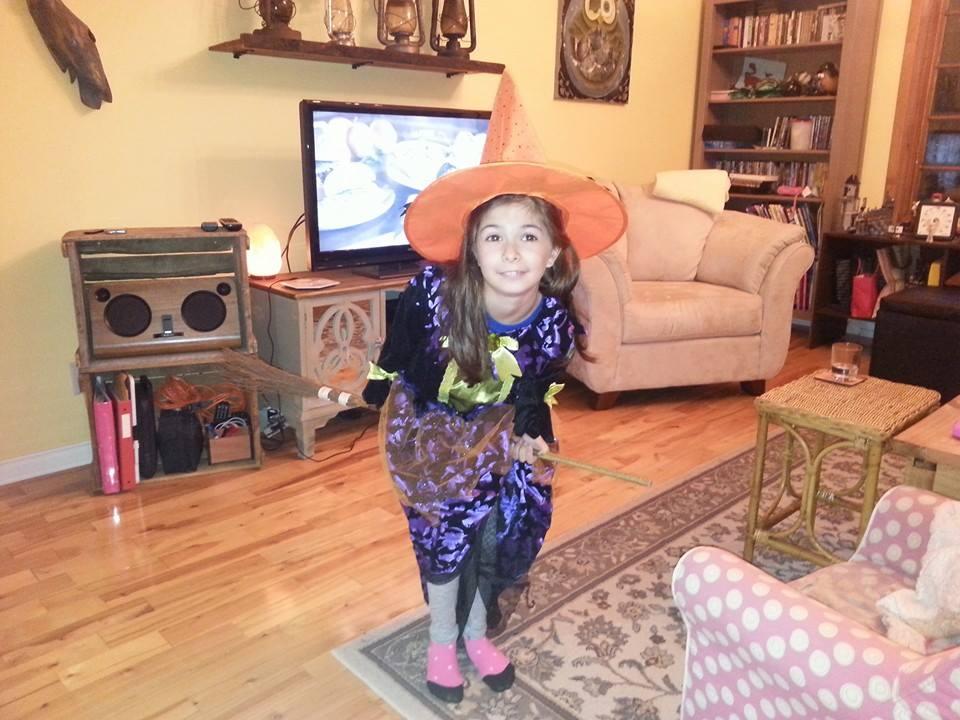 Princesse déguisée en sorcière